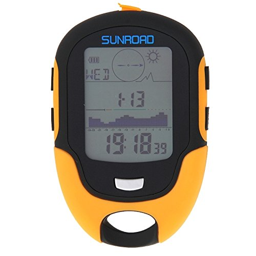 LYL 多機能LCDデジタル高度計、コンパス、気圧計、温度計、湿度計、勇気予測、LEDトーチ、時計付き   B07Q17G8V4