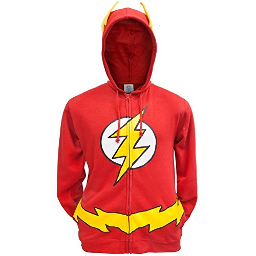 The Flash - Mens Costume Hoodie 2X-Large Red