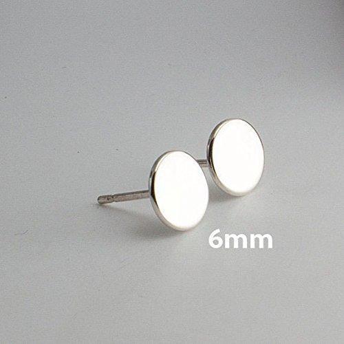 925 Sterling Silver Earrin Set Flat disc Studs - Art Sterling