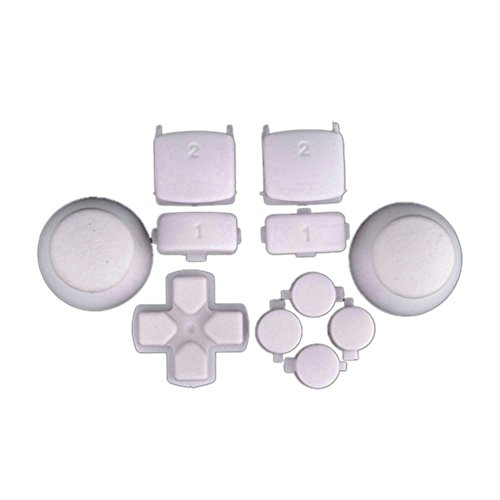 ModFreakz™ Complete Button Set Solid White For PS3 Controller - Complete Button Set