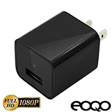 Eoqo® 1080P HD USB Output Wall Charger Hidden Spy Camera - Power Adapter Nanny Spy Camera with 16GB Internal Memory