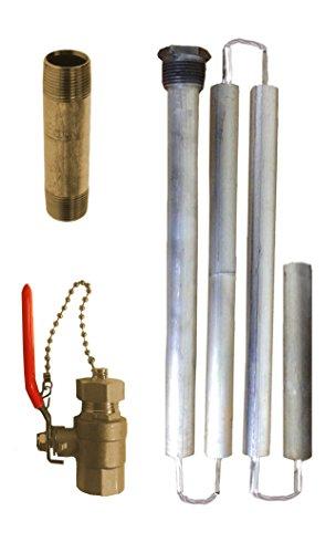Blue Lightning Aluminum / Zinc Flexible Anode Rod, Hex Plug, with Drainage Kit by Blue Lightning (Image #1)