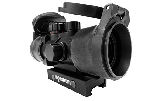 Monstrum Tactical S330P Ultra-Compact 3x Prism Scope (Black with Flip-Up Lens Covers)