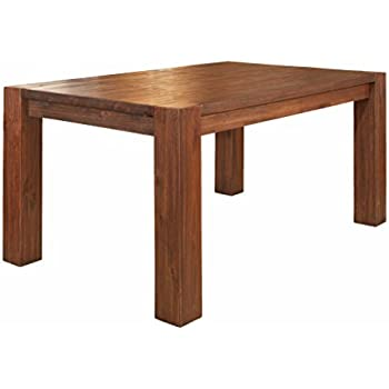 This Item Modus Furniture 3F4161 Meadow Solid Wood Extending Dining Table,  Brick Brown