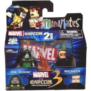 Marvel vs Capcom 3 Minimates Series 3 Dr. Doom Vs. Albert Wesker Minifigure 2-Pack ()