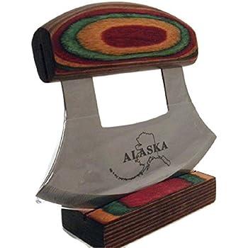Amazon Com Alaskan Ulu Knife And Stand Kitchen Amp Dining
