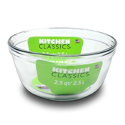 Clear Glass Mixing Bowl 2.5 Quart-8.5