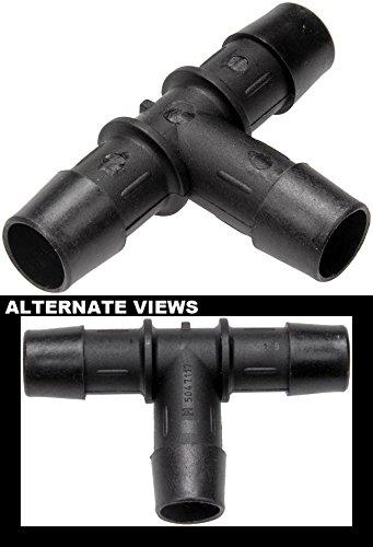 APDTY 58228 5/8 X 5/8 X 5/8 In. Plastic Heater Hose Tee