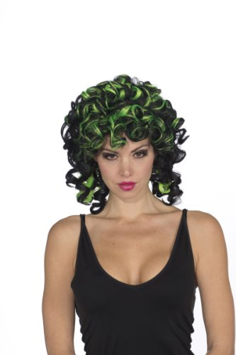[Rubie's Costume Witchy Wig, Neon Green/Black, One Size] (Neon Green Wigs)