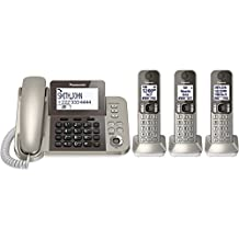 PANASONIC KX-TGF353N Dect 6.0 Corded/Cordless Phone System with Caller Id and Answering System (3 Handsets)