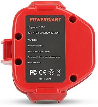 PowerGiant 12V 3.0Ah NiMh Replacement Battery for Makita 1222 1233 1220 1234 1235 192598-2 PA12 6213d 6217d 6227d 6313d
