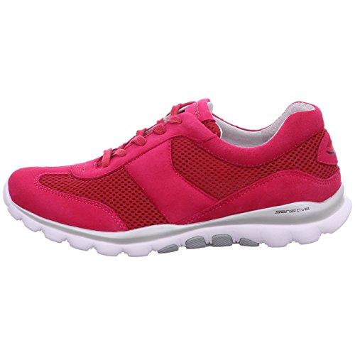 lila Gabor Sneaker Rot Pink orange Pink Rosa Donna xUpwC4UqY