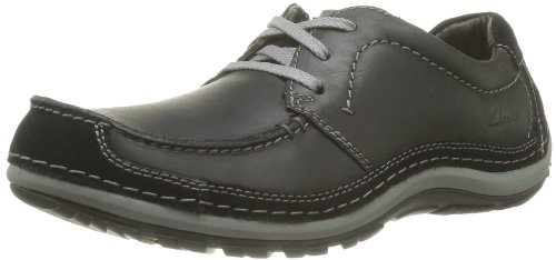 Clarks Shiply Way 203592737 Herren Schnürhalbschuhe Schwarz (Black Leather)