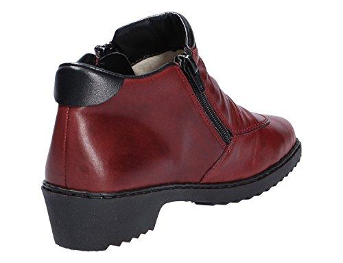 schwarz M066433 rubino rouge Femmes bottines Rieker qCYwxP0x