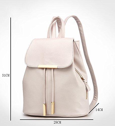 (20 * 14 * 31cm) (beige) La nueva versión coreana del bolso de la PU de la PU de la onda -