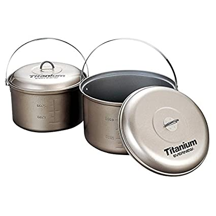 Amazon.com: Evernew Titanium NS olla con mango, 4.0 L ...
