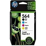 HP 564 | 4 Ink Cartridges | Black, Cyan, Magenta, Yellow | CB316WN, CB318WN, CB319WN, CB320WN, Model:3YQ22AN#140