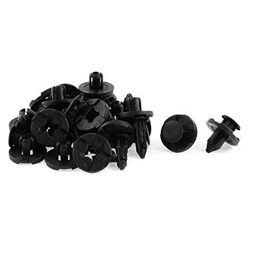 uxcell 20 Pcs Black Plastic Rivet Lining Moulding Clips for Nissan Tiida