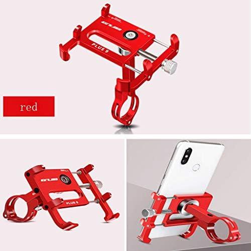 KHFFH 携帯電話ホルダー- 360°回転車の電話台紙、アップグレード版のオートバイの移動式立場、机のための独特な設計調節可能な電話立場(7.7x(5.5-10)cm) (Color : Red, Size : 7.7x(5.5-10)cm)
