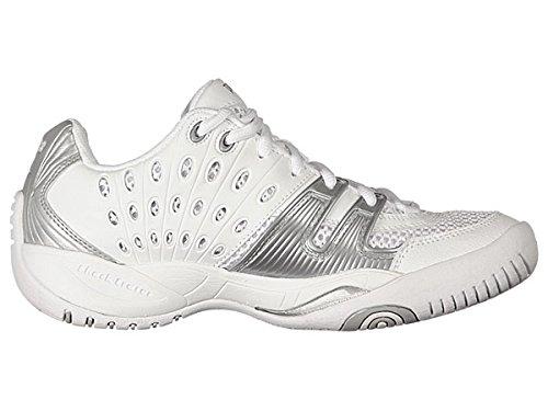 Prince Shoe,White/Silver,6