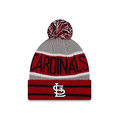 New Era St. Louis Cardinals Banner Block Pom Knit Hat/Cap