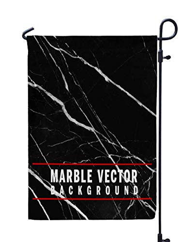 Shorping Decorative Outdoor Garden Flag, 12x18Inch Black Vector Marble Background EPS 10 Format for Holiday and Seasonal Double-Sided Printing Yards Flags