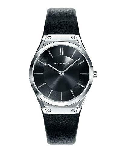 Reloj analógico de mujer VICEROY con correa de piel 42236-57: Amazon.es: Relojes