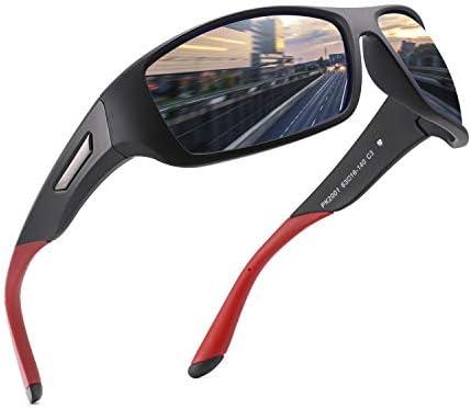 PUKCLAR Polarized Sports Sunglasses for Men Women Driving Sunglasses Cycling Running Fishing Golf