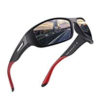 Polarized Sports Sunglasses for Men Women Running Cycling Fishing Driving Golf Tr 90 Unbreakable Frame