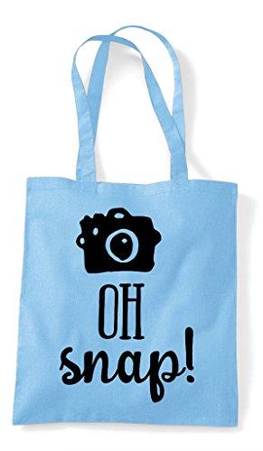 Shopper Snap Tote Sky Statement Bag Shutter Camera Cute Oh Blue X0nwRRx