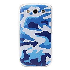20150511 Blue Camouflage Pattern Plastic Case for Samsung Galaxy S3/I9300