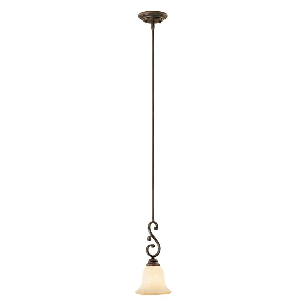 Millennium Lighting 1201-RBZ Oxford 1-Light Mini-Pendant in Rubbed Bronze
