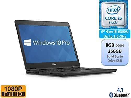 Dell Latitude E7470 Business Ultrabook 14 Inch Full HD 1080p Intel 6th Gen i5-6300U 8GB DDR4 256GB SSD Windows 10 Pro
