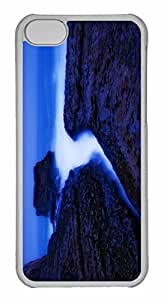 iPhone 5C Case, Personalized Custom Davenport Beach Twilight for iPhone 5C PC Clear Case