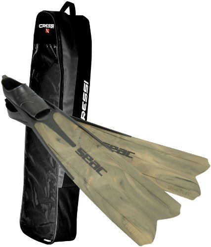 Seac Shout S900 Spearfishing/Freediving Fin with Basic Bag, 14-15
