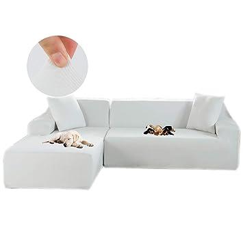 Amazon.com: Obokidly - Funda de sofá con forma de L elástica ...