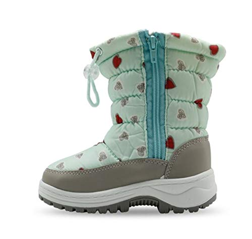 Children's Boots Thick Snow Boots Cotton Boots Green