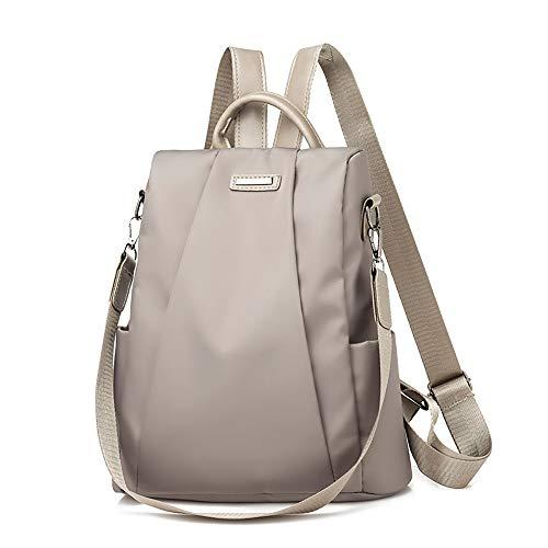 (Shoulder Fashion Bag Toxz Women Travel Backpack Travel Bag Anti-Theft Oxford Cloth Backpack Khaki)