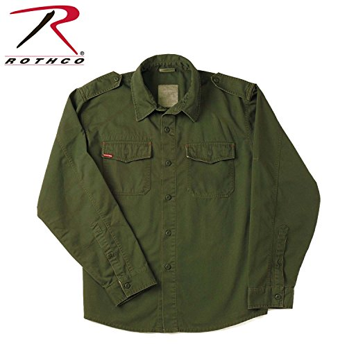 Rothco Vintage BDU Shirt, Olive Drab, Medium