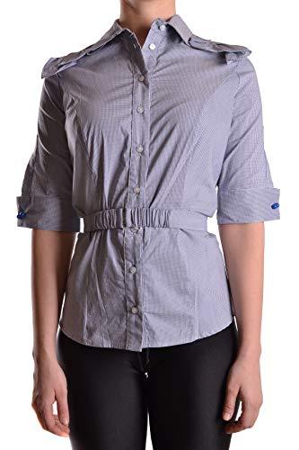 Camicia Donna Franchi Cotone Elisabetta Blu Mcbi30021 75S11xq