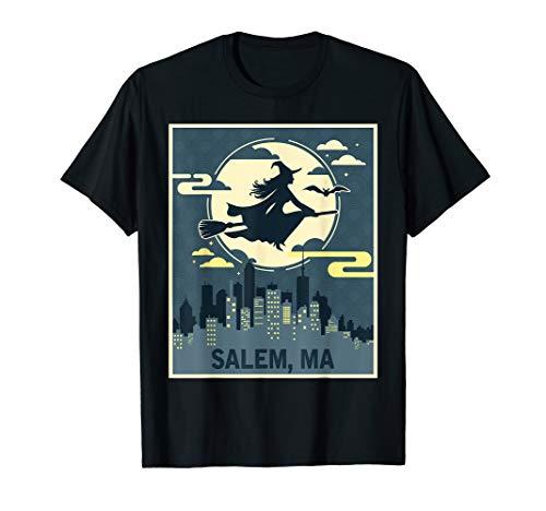 Salem Massachusetts Witch Halloween Night T-shirt