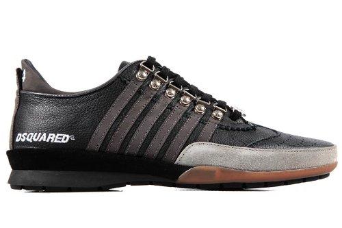 Dsquared2 Dsquared zapatos zapatillas de deporte hombres en piel nuevo negro EU 45 W12 SN251 VB20 2222: Amazon.es: Zapatos y complementos