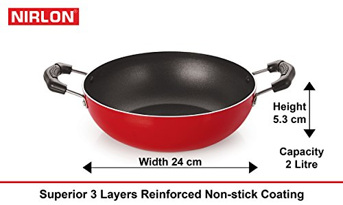 Nirlon-Non-Stick-Cookware-Kitchen-Cooking-Essential-Combo-Set-FT12FP13KD13FT11Heavy-Gauge-Aluminium