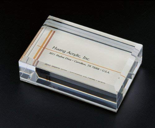 Sliding-In Business Card Holder W/Paper Weight
