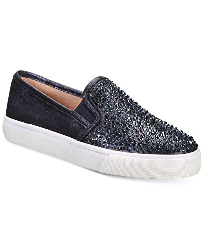 INC International Concepts Womens Sammee2 Fabric Low Top Slip On, Navy, Size 8.0 from INC International Concepts