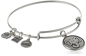 "Alex and Ani ""Charity By Design"" The Elephant Expandable Wire Bangle Bracelet, 7.75"""