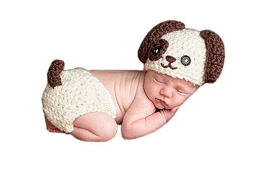 [Pinbo® Newborn Baby Photography Prop Animal Puppy Dog Hat Diaper Costume Outfits] (Puppy Dog Baby Costume)