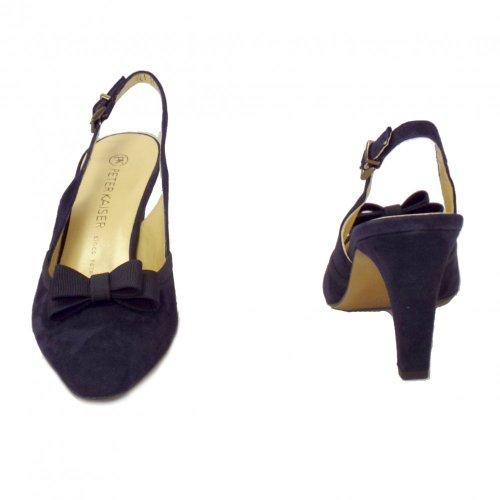 Notte Azul Slingback Peter Marino De Zapatos Tanina Kaiser Gamuza Gamuza Damas 1qnfwZ6xz