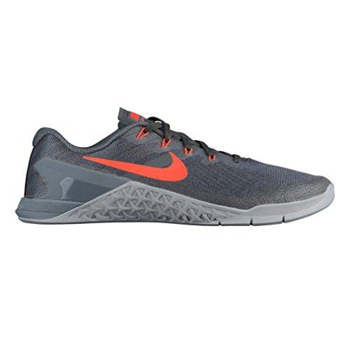 Nike Metcon 3 Mens 852928-007 Grigio Scuro / Iper Cremisi-lupo Grigio