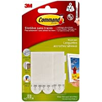 Command White 12 lb Picture Hanging Strips, Decorate Damage-Free, Indoor Use (17201-4PK-ES)